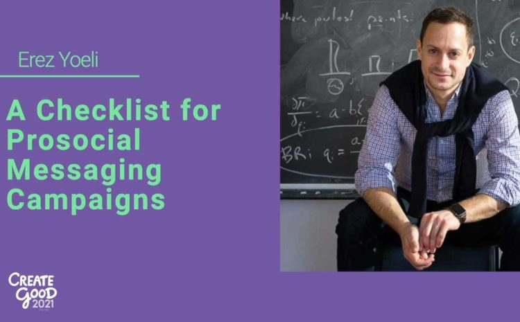 Keynote: A Checklist for Prosocial Messaging Campaigns